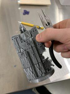 Tukirakenteiden kokeilua 3D-tulostuksessa.